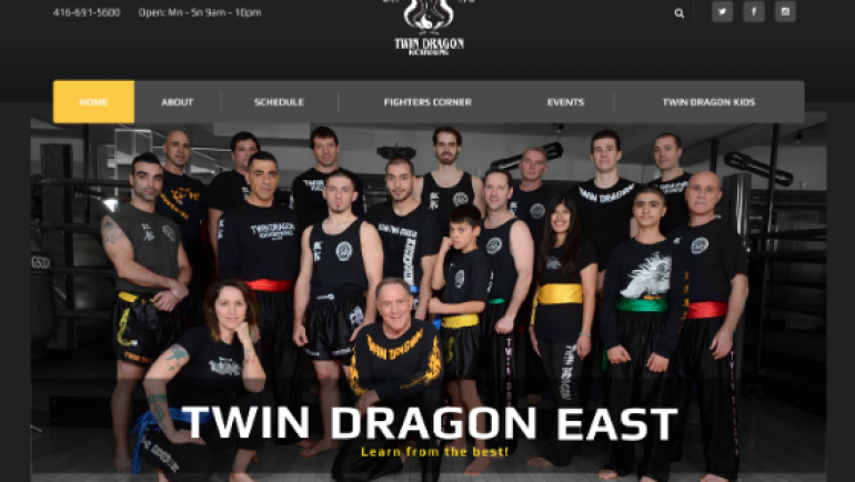 Twin Dragon East Kickboxing – New Website!