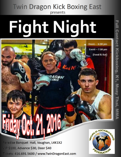 Twin Dragon East Kickboxing - Fight Night 2016