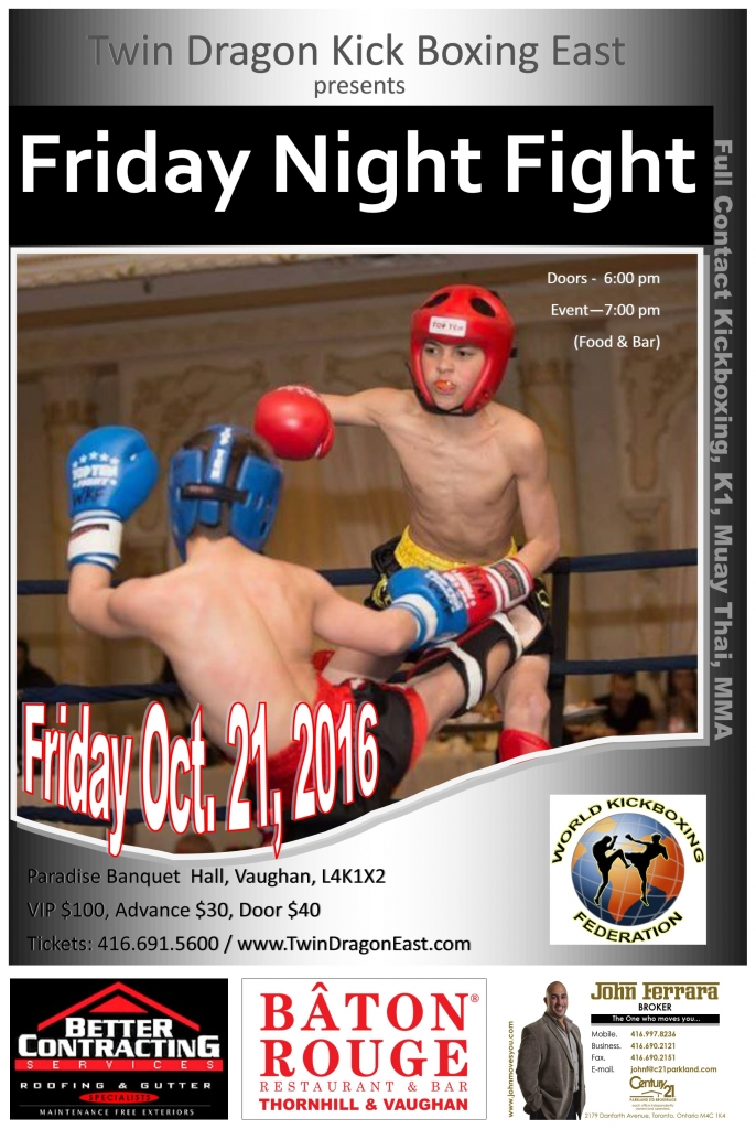 Twin Dragon East Kickboxing - Fight Night 2016