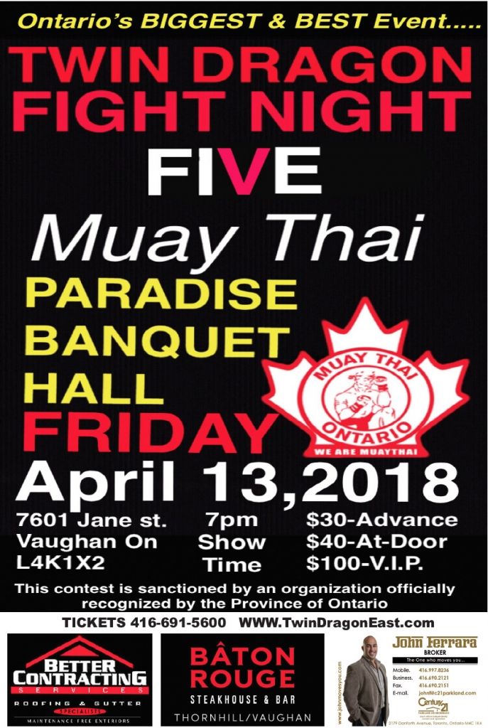 Twin Dragon East Kickboxing - Friday Fight Night 5